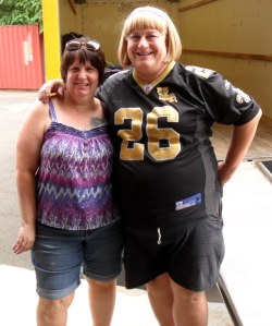 The first time Kathy and I had seen each other since middle school. At the load-out in Hamden.
