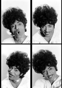 Little Richard, as he pretty much looked the first time I saw him, on The Mike Douglas Show.