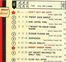 A chart whose likes we'll never see again -- the week of April 12, 1964.