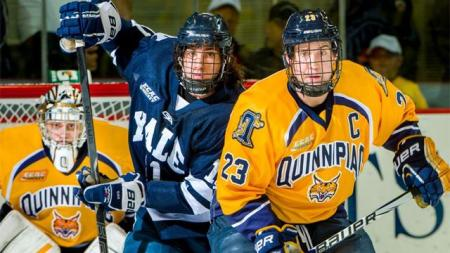 It's a wild hockey weekend in Connecticut -- Yale and Quinnipiac playing for the NCAA championship.