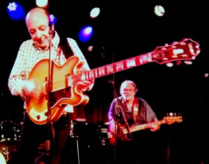 Barry Tashian and Vern Miller of The Remains at The Bell House, Brooklyn, Friday night.
